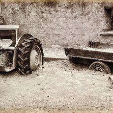 old abandoned farm equipment (imitation vintage photo)