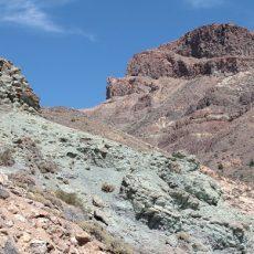 green phosphate deposit in the valley of Mount Teide on Tenerife made in horizontal
