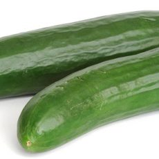 Isolated cucumbers